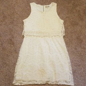 Ivory Lace Cocktail Dress: Bridal Shower Rehearsal